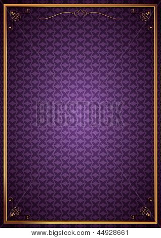 Corner patterns in purple wallpaper