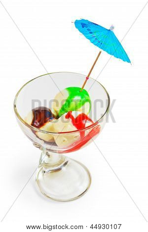 ice cream cup ball isolated on white background