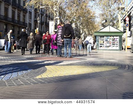 The Ramblas Of Barcelona, Spain.
