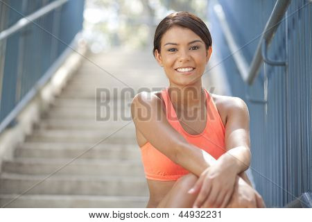 Happy Fit young female Athlete
