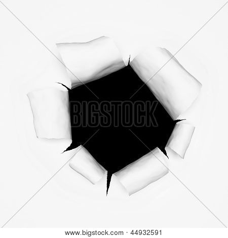 Breakthrough Paper Hole 3D