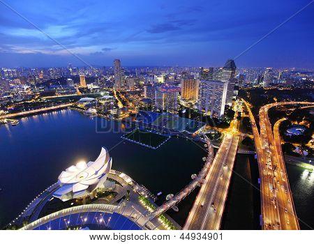 Singapore at evening