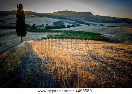 Sunset On The Tuscan Hills