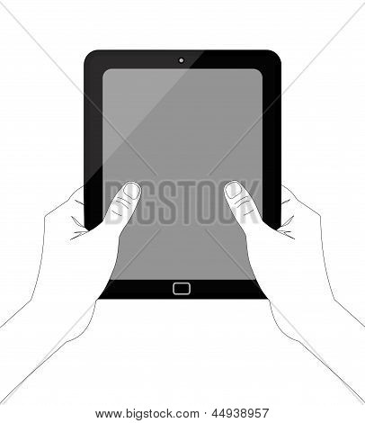 Hand-holding-tablet-vector-inkscape-white-background