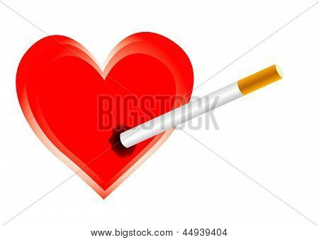 Cigarette harms heart