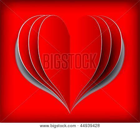 Valentine's day card. Rasterized illustration. Vector version in my portfolio