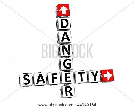 3D Danger Safety Crossword