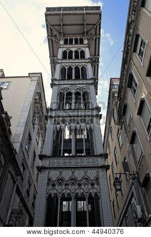 Santa Justa Elevator In Lisbon