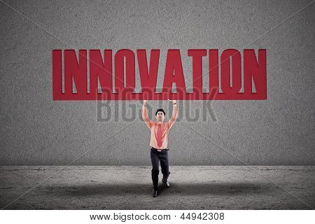 Businessman Carry Innovation