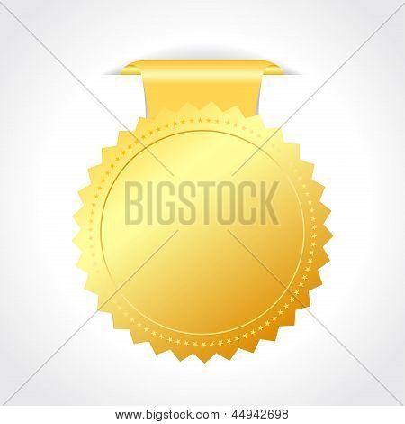 Vector golden seal