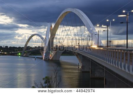 Juscelino Kubitschek Bridge In Brasilia