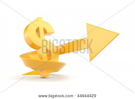 Dollar sign. Business graph concept