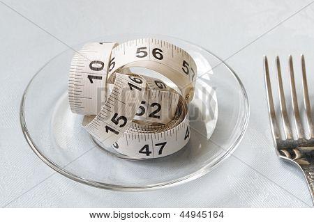 White Centimeter On Glass Bowl