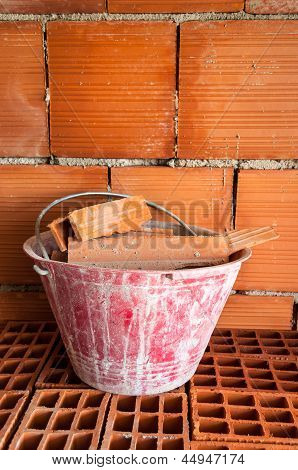 Masonry Bucket On Hollow Bricks