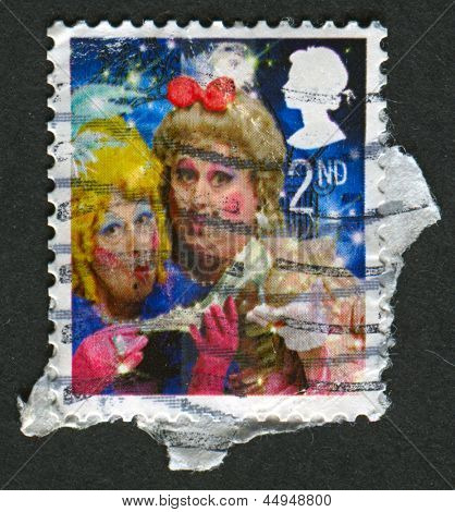 UK - CIRCA 2007: A stamp printed in UK shows image of The Ugly Sisters from Cinderella, circa 2007.