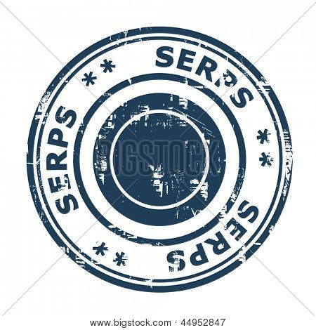 SERPS concept stamp isolated on a white background.