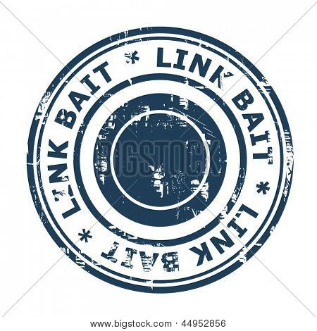 SEO Link Bait concept stamp isolated on a white background.