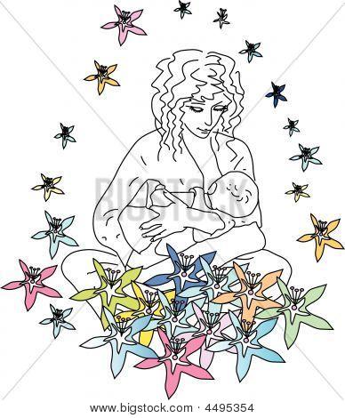 Felicidad de la maternidad