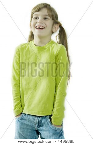 Portrait Of Young Smiling Girl