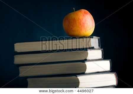Red Apple On A Books