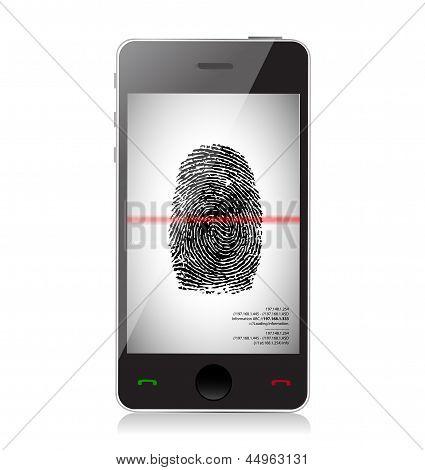 Mobile Phone Scanning A Finger Print