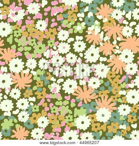 cute floral vector ~ seamless background