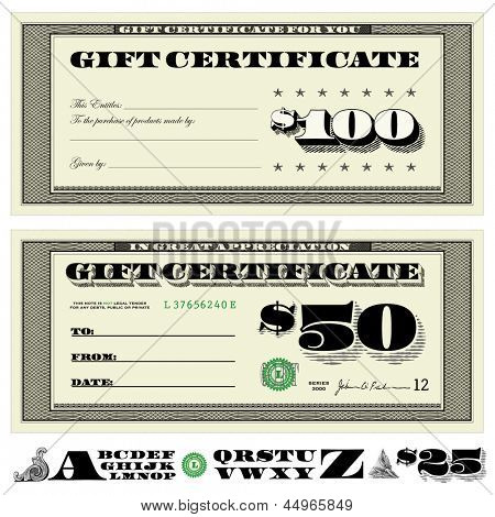 Vector Financial Certificates. Easy to edit. All layers are separated.