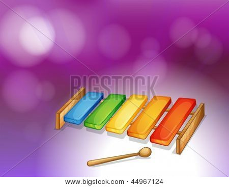 Illustration of a colorful xylophone