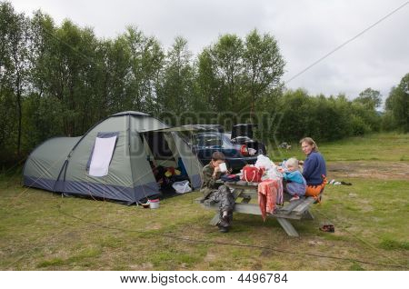 Family On Camping Rest