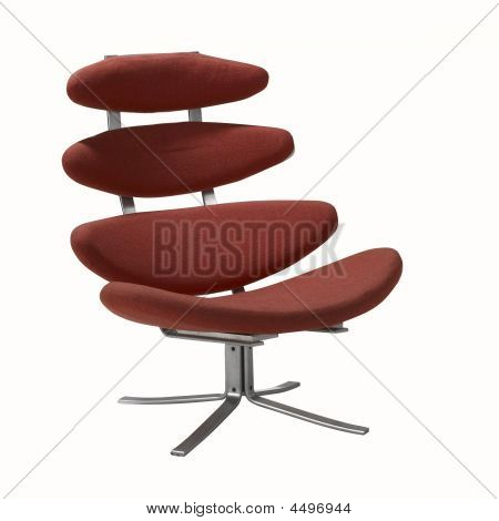Red Modern Swivel Chair