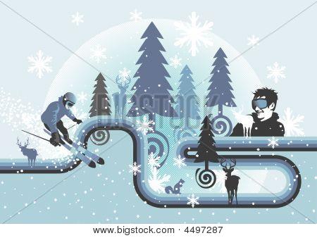 Saison-Serie: Wintersport