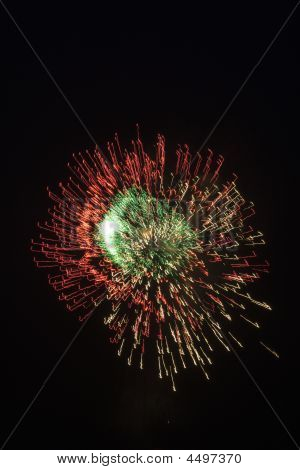 Blue And Yellow Firework At Night