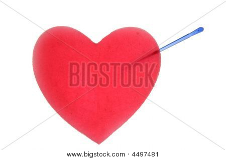 Valentines Red Heart With Color Pins