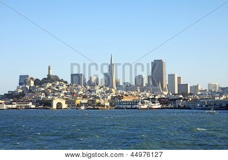 Panoramic view of the San Francisco bay, San Francisco, USA