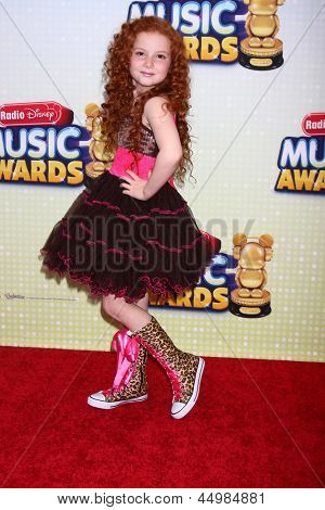 LOS ANGELES - APR 27:  Francesca Capaldi arrives at the Radio Disney Music Awards 2013 at the Nokia Theater on April 27, 2013 in Los Angeles, CA