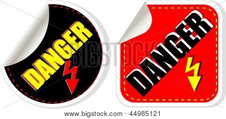 High Voltage Danger Sign, Symbol