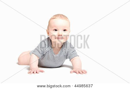 Baby Boy Crawling Start