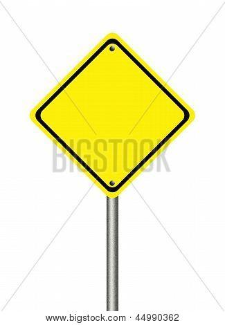 Señal de tráfico amarillo blanco
