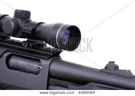 Shotgun With A Rifle Scope