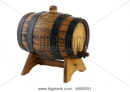 Little Wine Barrel On A Support