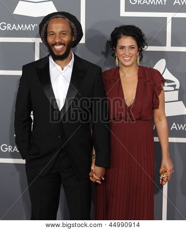 LOS ANGELES - FEB 10:  Ziggy Marley and wife Orly Agai arrive to the Grammy Awards 2013  on February 10, 2013 in Los Angeles, CA.