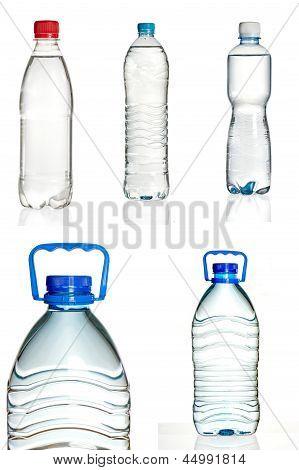 Set Of Plastic Water Bottles