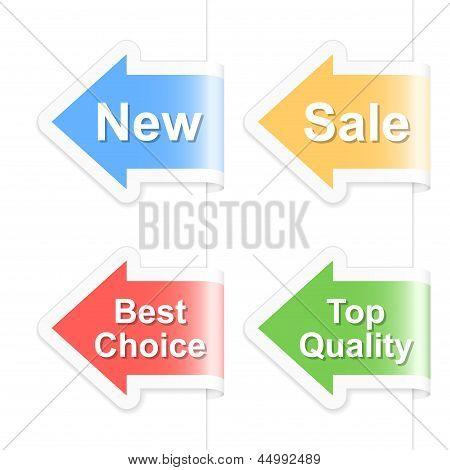 Arrow Shopping Labels. Vector Illustration