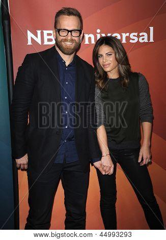 LOS ANGELES - JAN 06:  Jillian Michaels & Bob Harper arrives to the NBC All Star Winter TCA 2013  on January 06, 2013 in Pasadena, CA