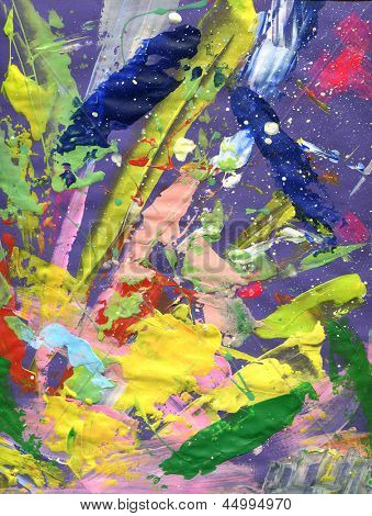 abstract painting with expressive brush strokes