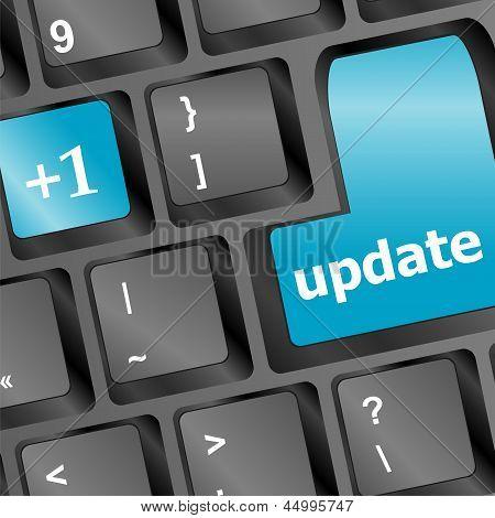 Upgrade Computer Key On Black Keyboard