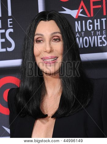 LOS ANGELES - APR 24:  Cher arrives to the AFI Night At The Movies 2013  on April 24, 2013 in Hollywood, CA