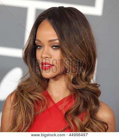 LOS ANGELES - FEB 10:  Rihanna arrives to the Grammy Awards 2013  on February 10, 2013 in Los Angeles, CA.