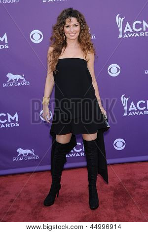 LAS VEGAS - APR 07:  Shania Twain arrives to the Academy of Country Music Awards 2013  on April 07, 2013 in Las Vegas, NV.