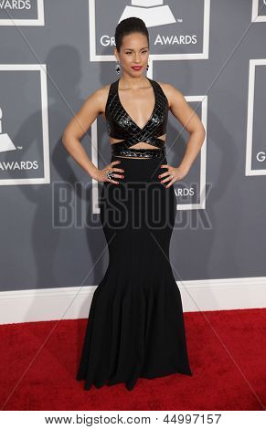 LOS ANGELES - FEB 10:  Alicia Keys arrives to the Grammy Awards 2013  on February 10, 2013 in Los Angeles, CA.
